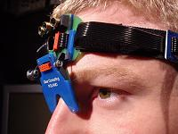 A head-mounted saccadometer with built-in laser target projectors